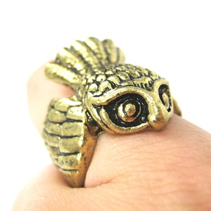 3D Cute Owl Animal Wrap Around Ring in Bronze Sizes 5 to 8 ONLY