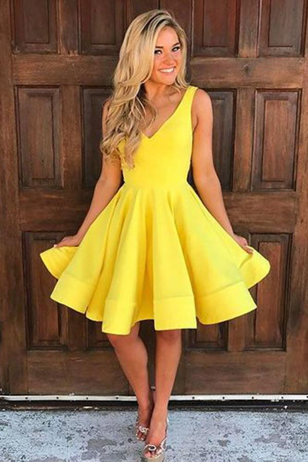 Yellow dresses for prom