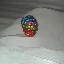 Rainbow Cocktail Adjustable Ring