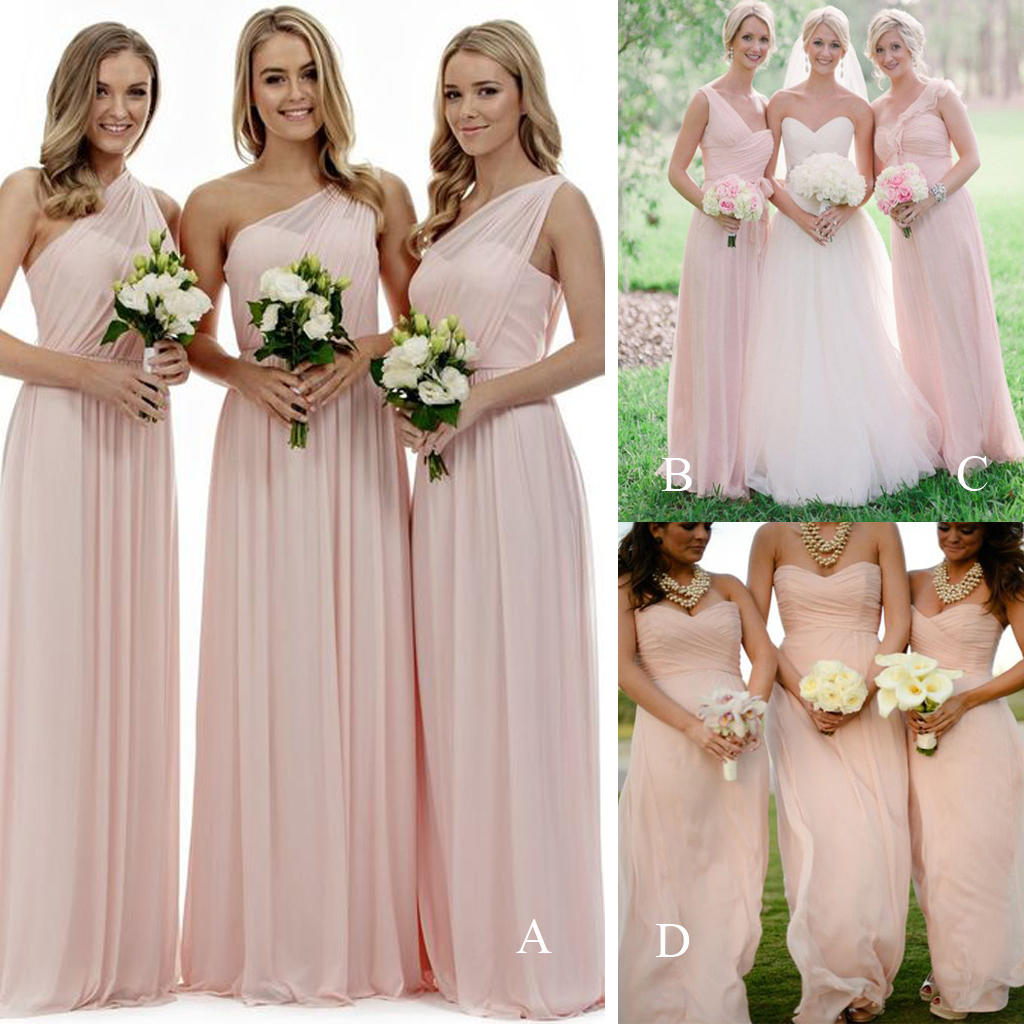 Bridesmaids Dresses with Pink Petal Wedding