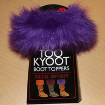 TEAM SPIRIT Boot Topper - TCU / LSU / Kansas State Purple