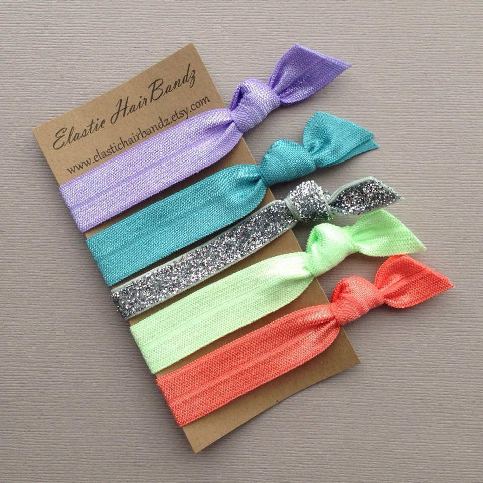 The Pia Hair Tie Ponytail Holder Collection by Elastic Hair Bandz on Etsy d31724629e8