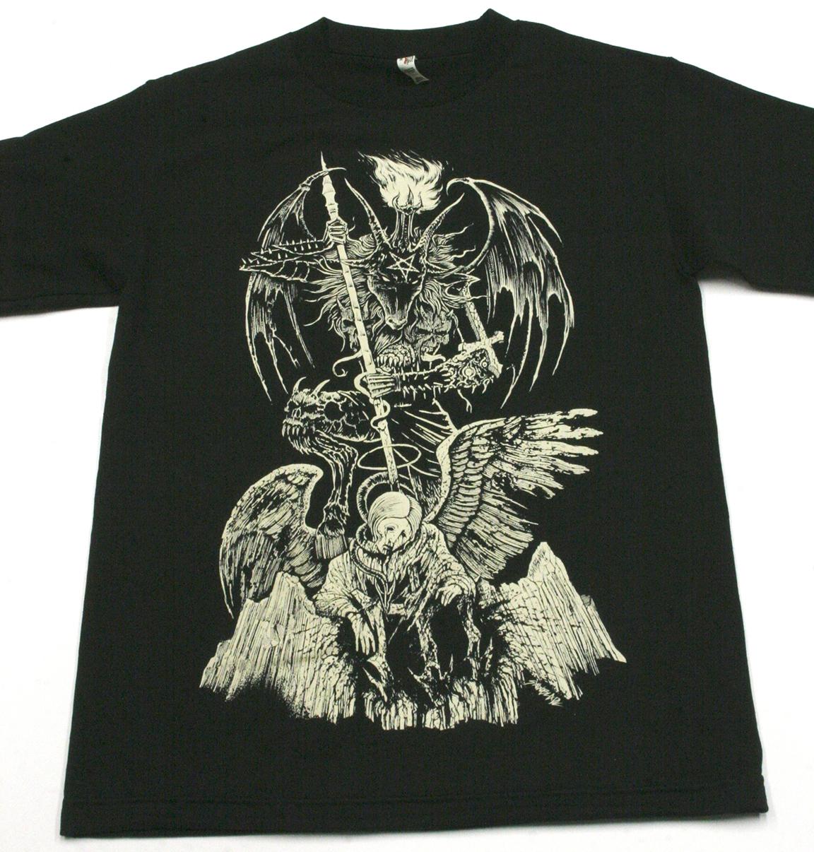 Sawblade illustration angelic slaughter screen printed t for T shirt screen printing phoenix