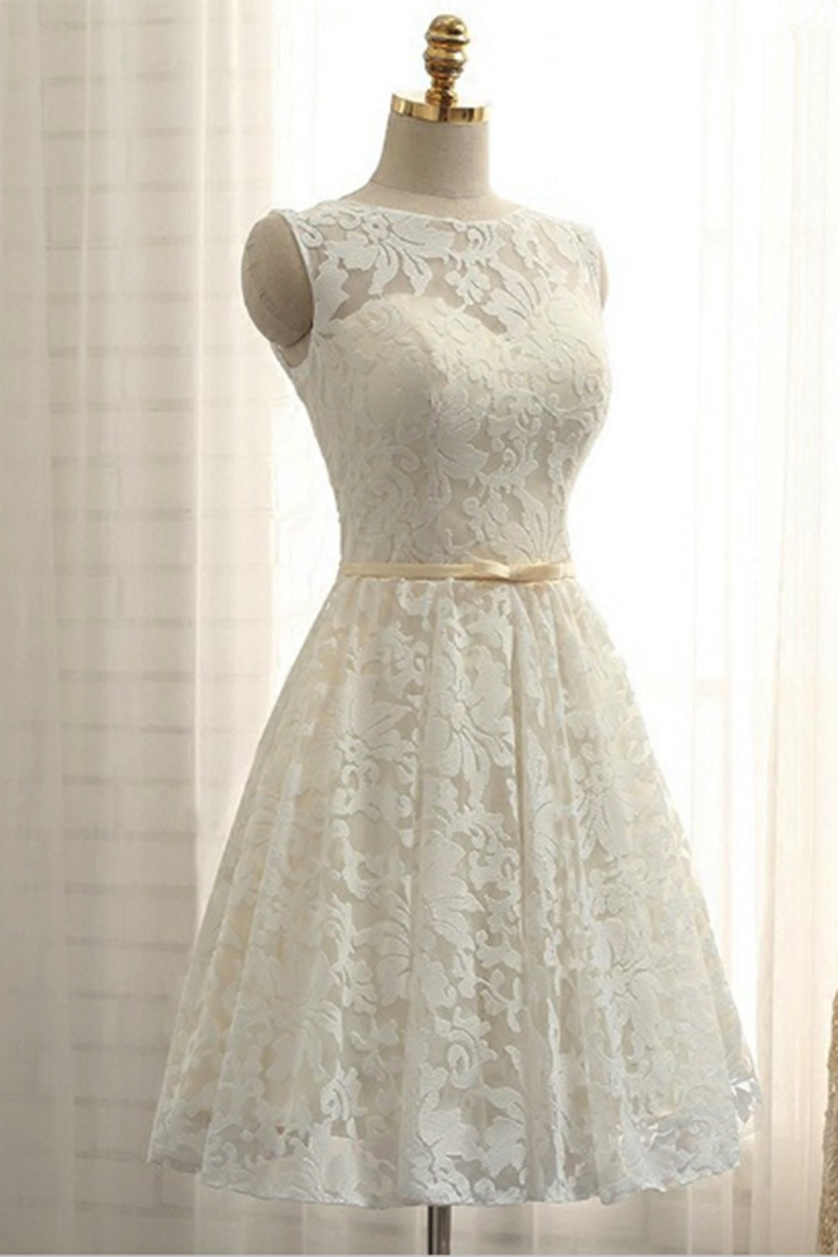 Cheap Prom Dresses by SweetheartDress · Ivory lace short ...