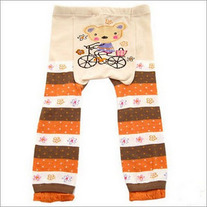 Bear on Bike Legging Design Pants for Girls baby size 3 mos to toddler  4T