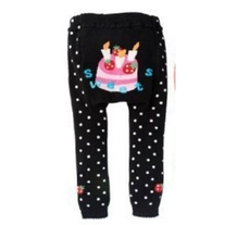 SWEETS Birthday Cake Leggings with Dots for Girls in size baby 3 mos to Toddler 4T