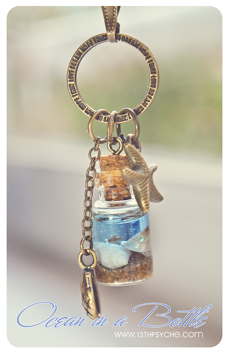 Ocean In A Bottle Necklace Vial Necklace With Shells