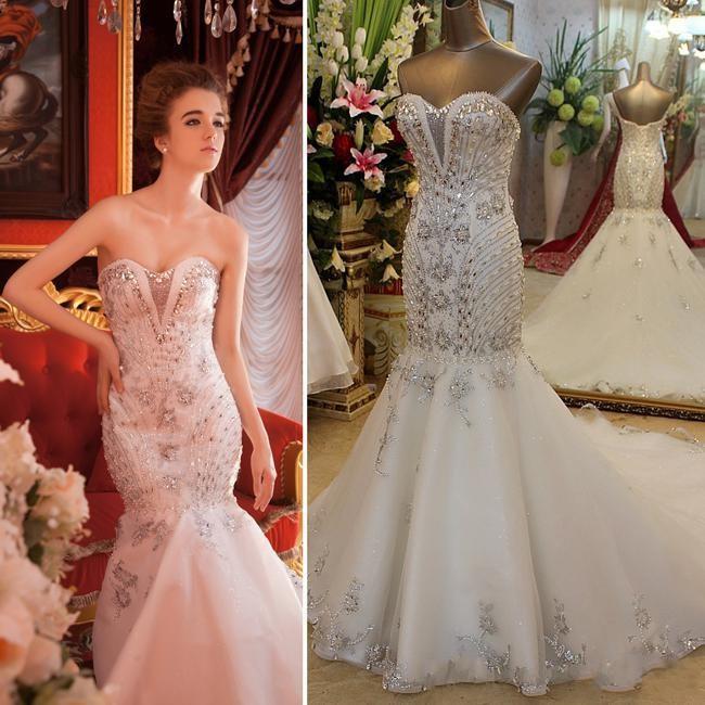 Sweetheart Mermaid Shining Beading Gorgeous Formal Elegant Wedding ...