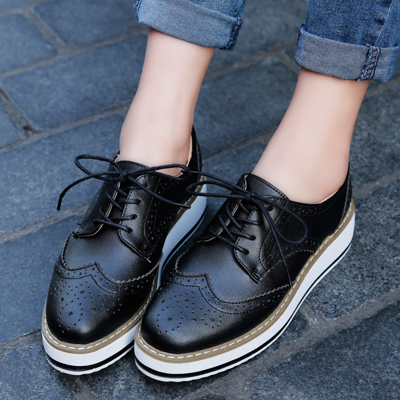 b451f9bdcab Black Lace up Platform Oxford Shoes · KoKo Fashion · Online Store ...