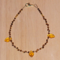 Amber Love Guitar String Anklet