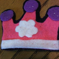 Princess Crown Felt Bow