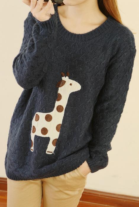Knitting Pattern For Giraffe Sweater : Lovely Dots Giraffe Sweater on Storenvy