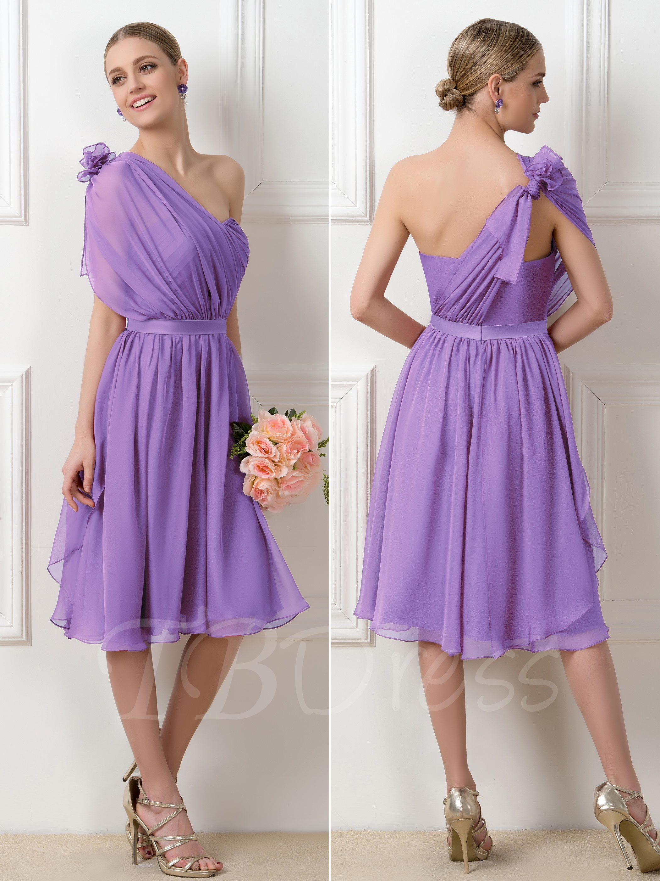 2f863b7727a0 W248 Romantic Purple Convertible A-Line Knee-Length Short Bridesmaid Dress