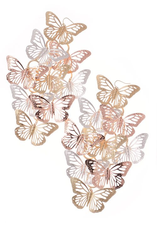 Quot Flight Quot Butterfly Multi Colored Earrings 183 Sophisticates Closet 183 Online Store Powered By Storenvy