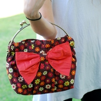 Kiss Lock Clutch - Dainty Flowers