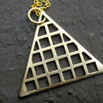 HOL Gold Triangle Necklace