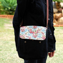 Postman Messenger Bag - Red Paisley