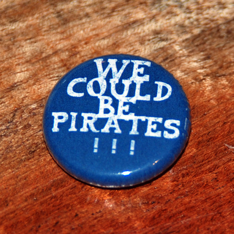 "PIRATES!!! 1"" Button"