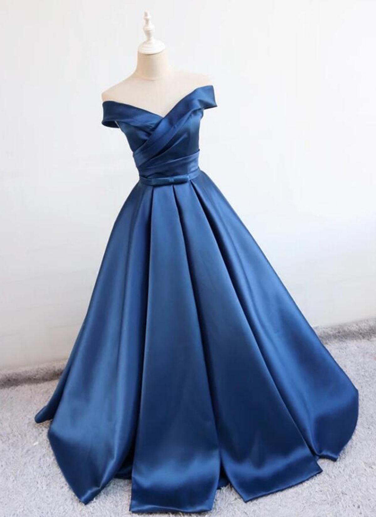 Cheap Prom Dresses by SweetheartDress · Deep blue V neck long off ...
