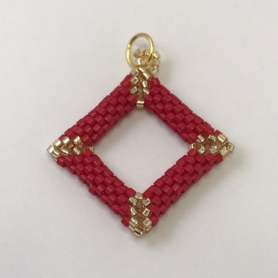 Dark red gold diamond shaped pendant buy me something pretty dark red gold diamond shaped pendant aloadofball Image collections
