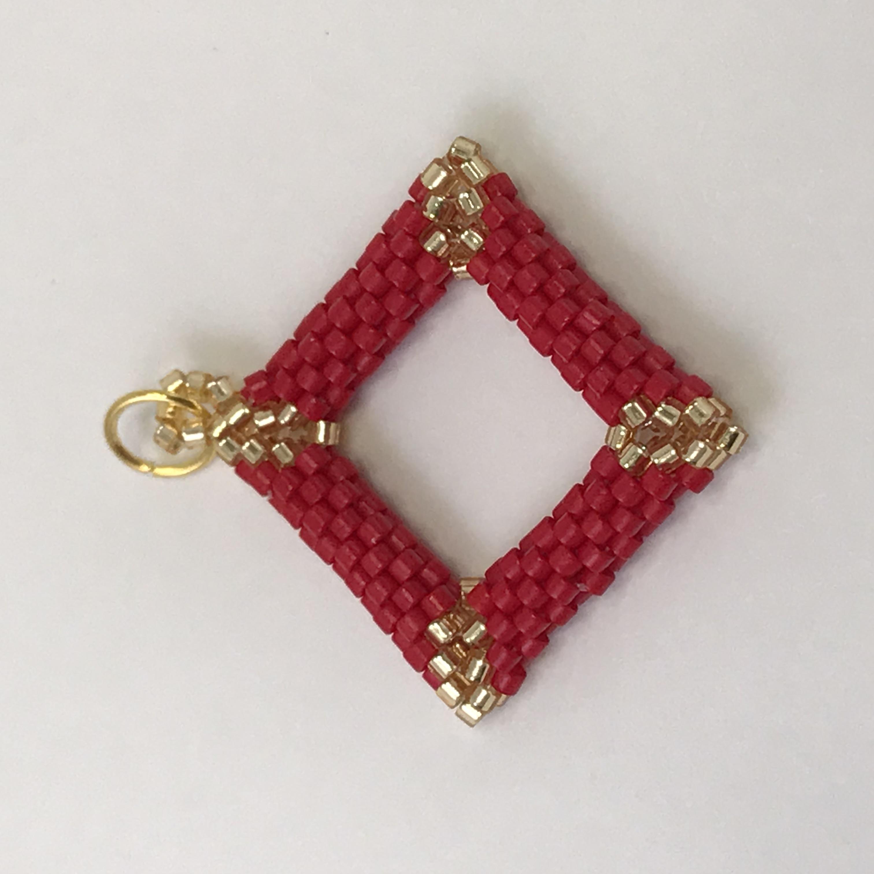Dark red gold diamond shaped pendant buy me something pretty dark red gold diamond shaped pendant aloadofball Images