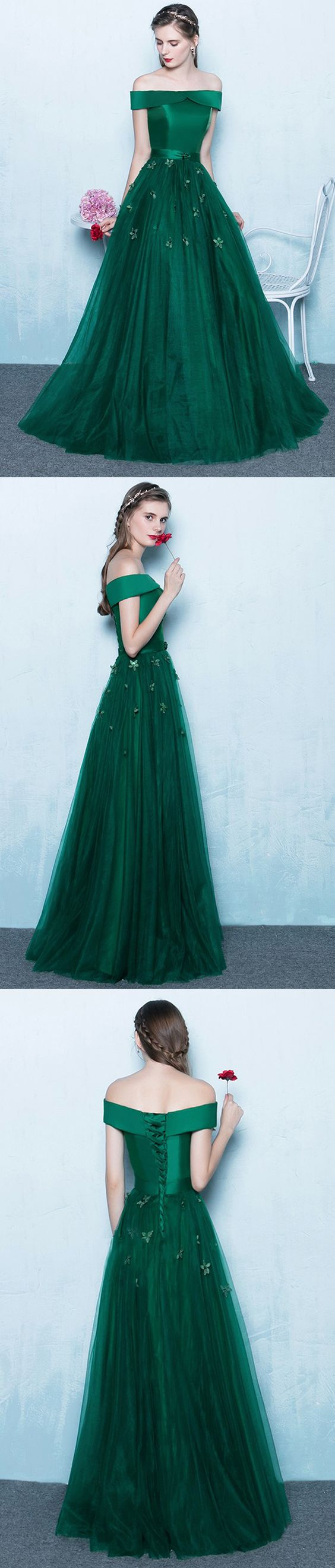 Green Prom Dress Long 2018,Prom Dresses,Evening Gown, Graduation ...