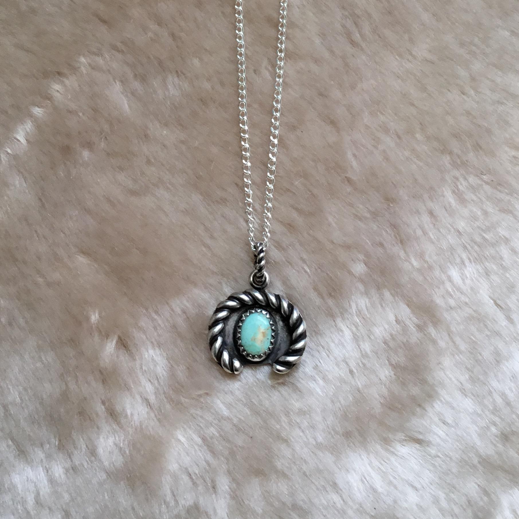 Turquoise horseshoe pendant rish jewelry online store powered by turquoise horseshoe pendant aloadofball Gallery