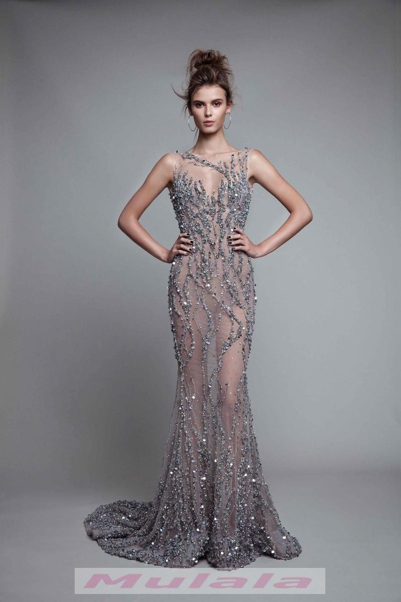 Luxury Crystal Beaded Backless Prom Dresses 2018 Berta See Through ...