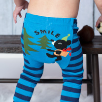 HIKING BEAR design Legging Pants Unisex Boy Girls Stretch pant in size 3 mos baby to 4T kids