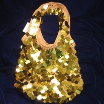 Large Sequin Knit Sack Bag - 200HB