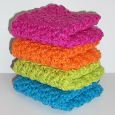 Tropical solids dishcloth set