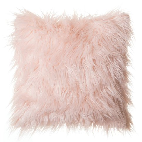 Pink Fluffy Throw Pillow On Storenvy