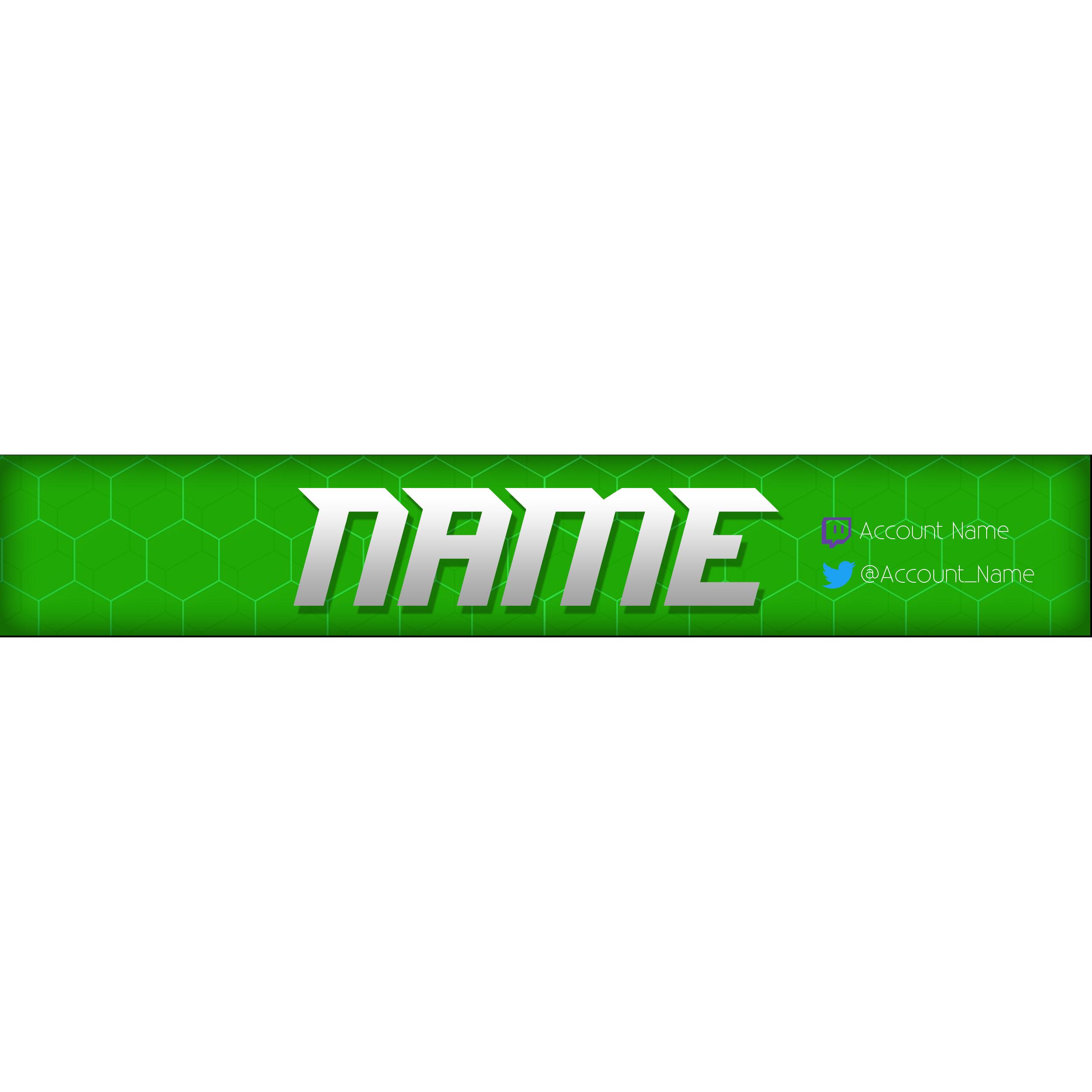 Simple Youtube Banner Template Greenwhite Blitz Apparel