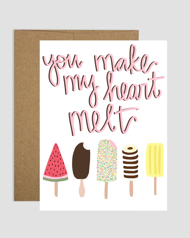You Make My Heart Melt Greeting Card Shop Kindyl Paris Online