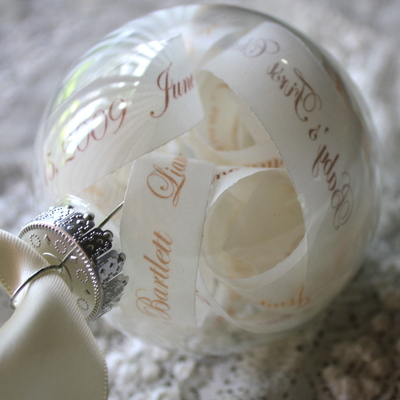 New baby keepsake ornament - personalized