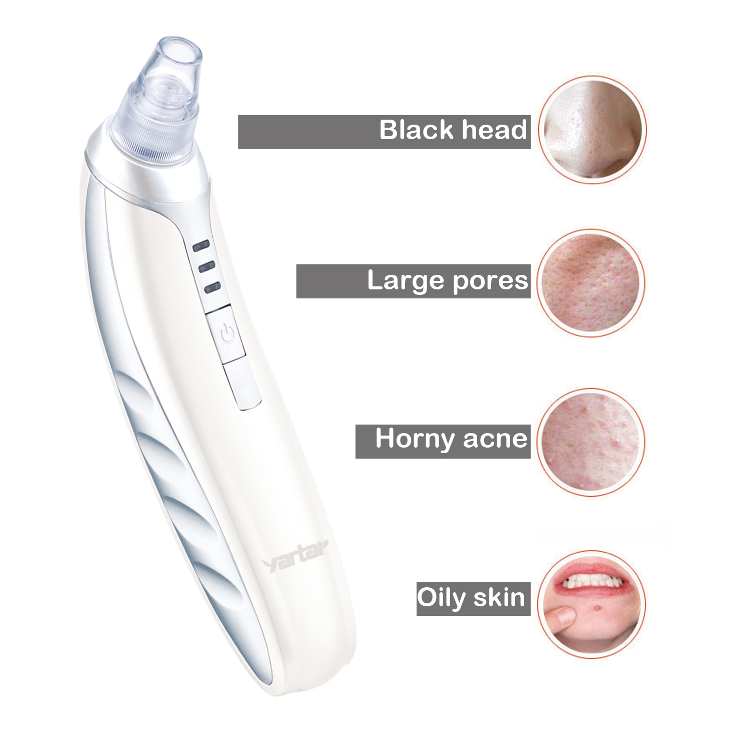 Blackhead Remover Electric Facial Pore Cleaner Microcrystalline Exfoliator Acne Removal Multifunction Cosmetic Vacuum Suction Cupping Treatment