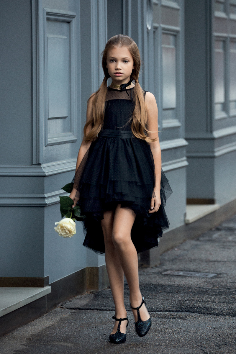 Custom-made Black Flower Girl Dresses,Hi-lo Halter Girl Dresses ...