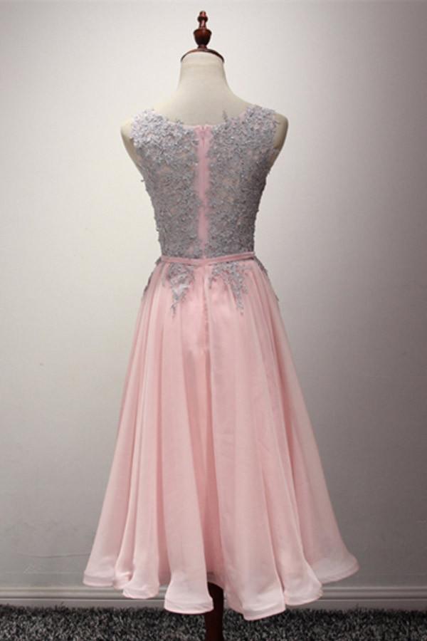 Flowing Chiffon Prom Dress, Light Pink Long Party Dress, FS82 ...