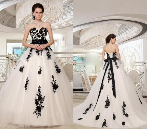Modest White And Black Lace Gothic Wedding Dresses 2018 Sweetheart Floor  Long Plus Size Vintage Garden Western Country Bridal Wedding Gowns from ...