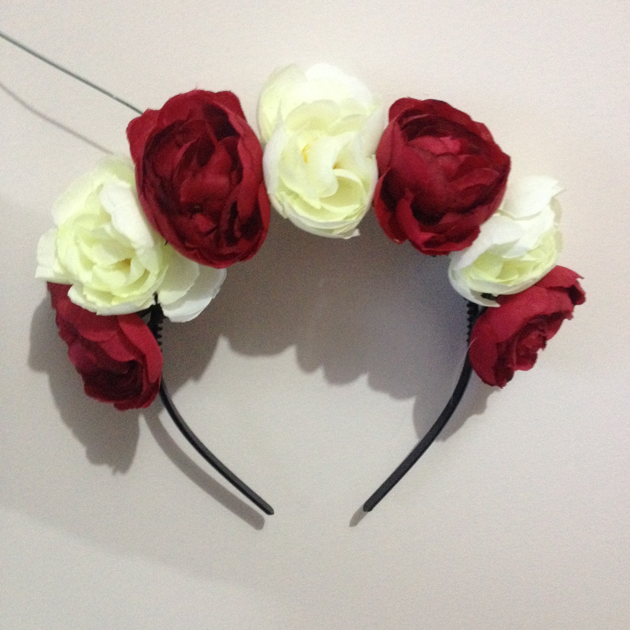 Cream/White and Red Rose Flower Crown · Rixie · Online Store Powered ...