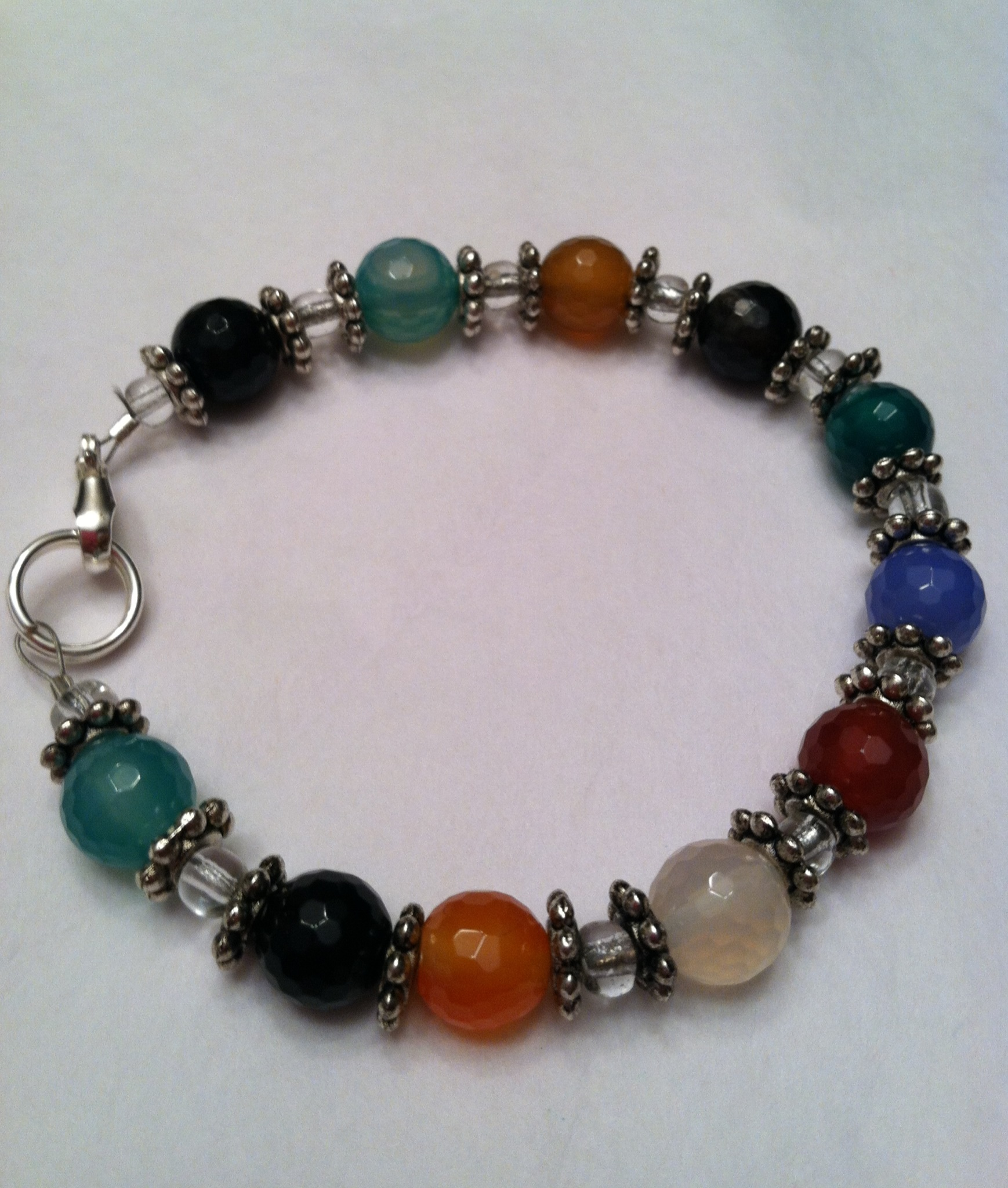 earth tone multi colored bracelet 183 beaded perfection