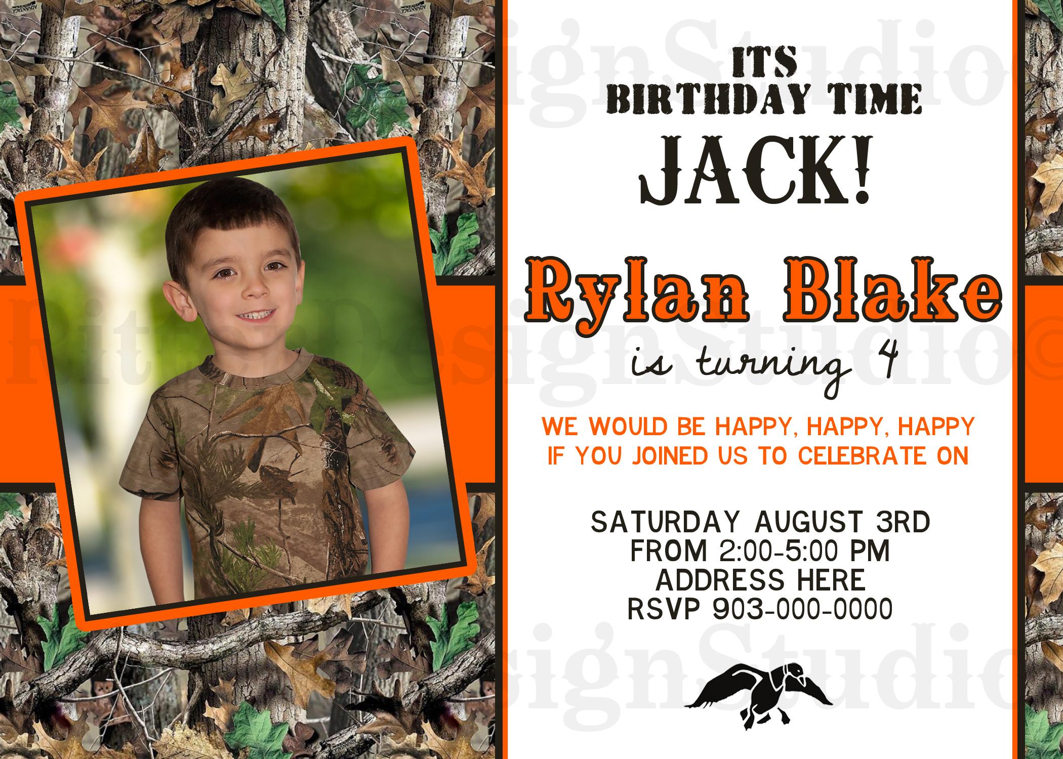 Its Birthday Time Jack, Duck Dynasty Inspired Birthday Invitation - Digital File/Printable
