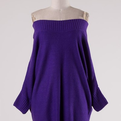 """purple reign"" lightweight off shoulder sweater"
