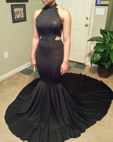 Mermaid Black Dress