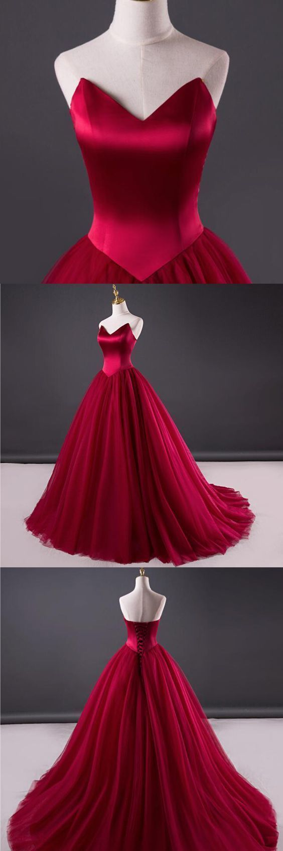 Prom Dresses,Wine Red Prom Dress,New Prom Gown,Evening Gowns,Ball ...