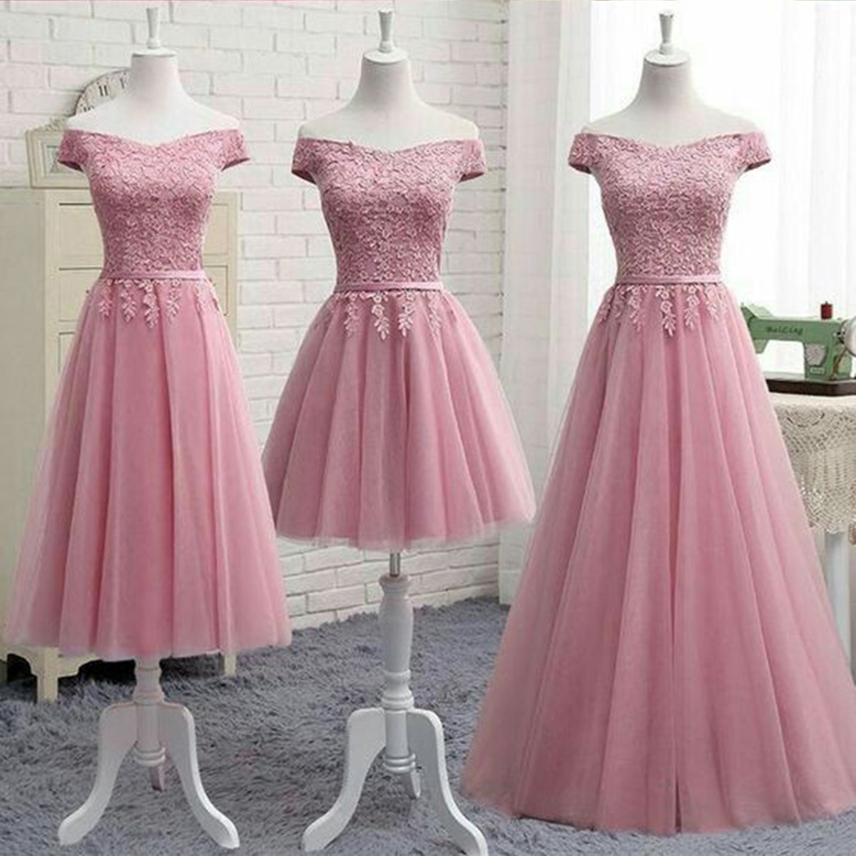 Cheap Prom Dresses by SweetheartDress · Pink tulle off shoulder cute ...