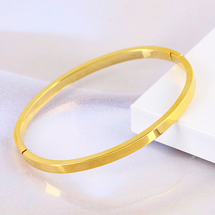 plain oval filled price can product bracelet the yellow low bangle bangles description opened gold real be