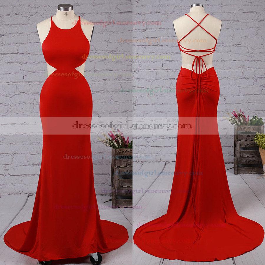 Cheap Prom Dressestrumpetmermaid Scoop Neck Long Formal Dresses