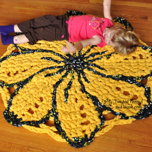 Sunshine Flower Rug - Nursery or Girl's Room Decor - Handmade to Order