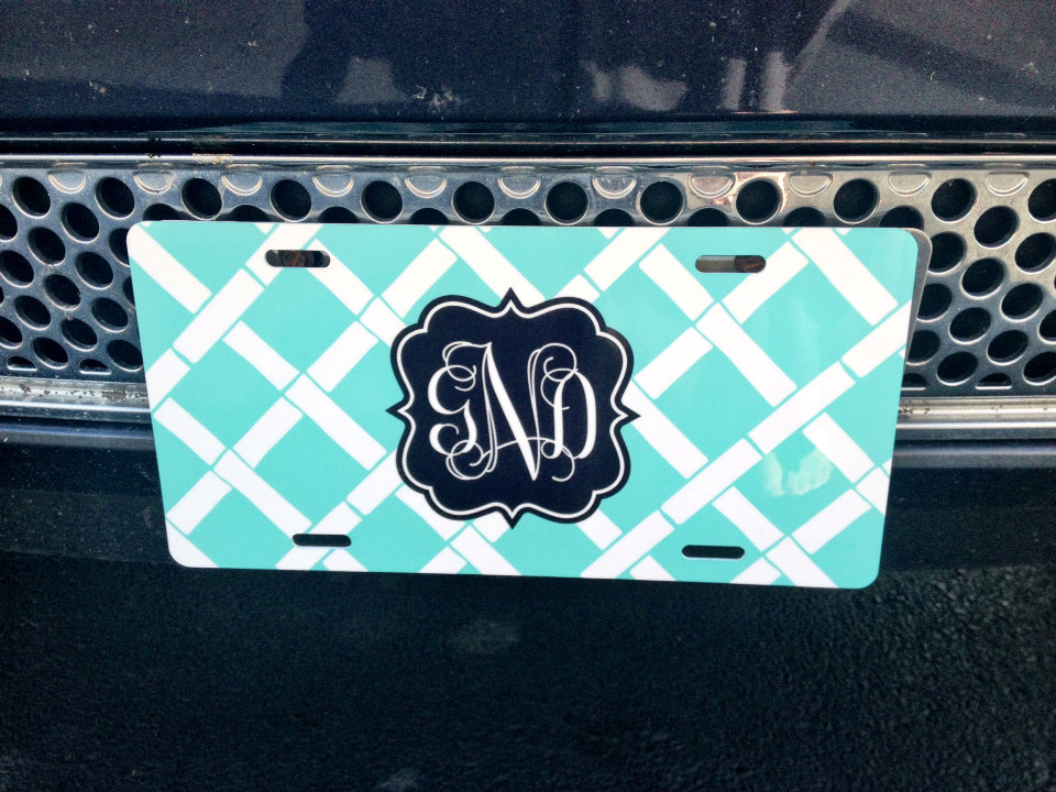 Car Tag License Plate Personalized Monogrammed Car Tag